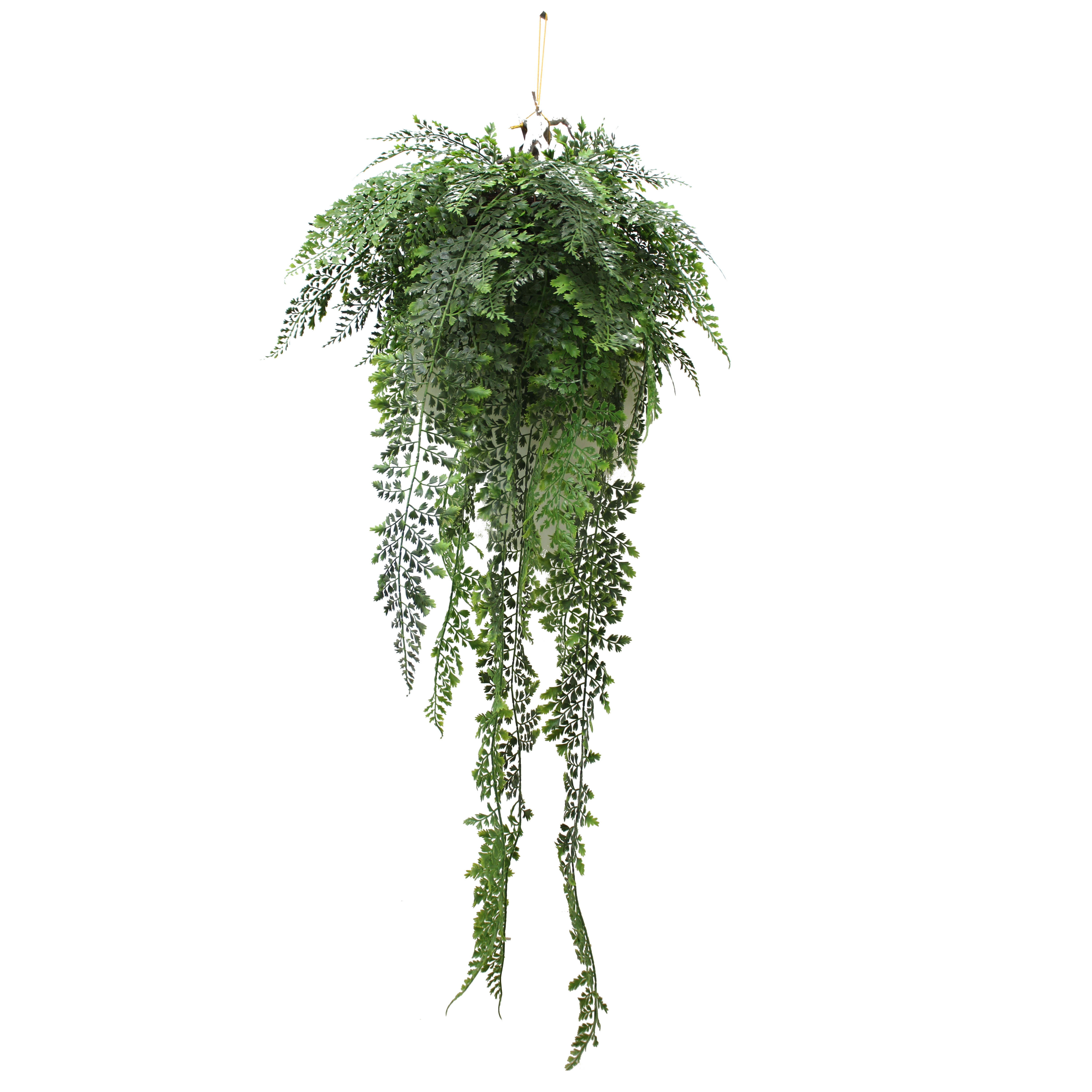 ARTIFICIAL HANGING FERN 70CM COMPLETE WITH BASKET