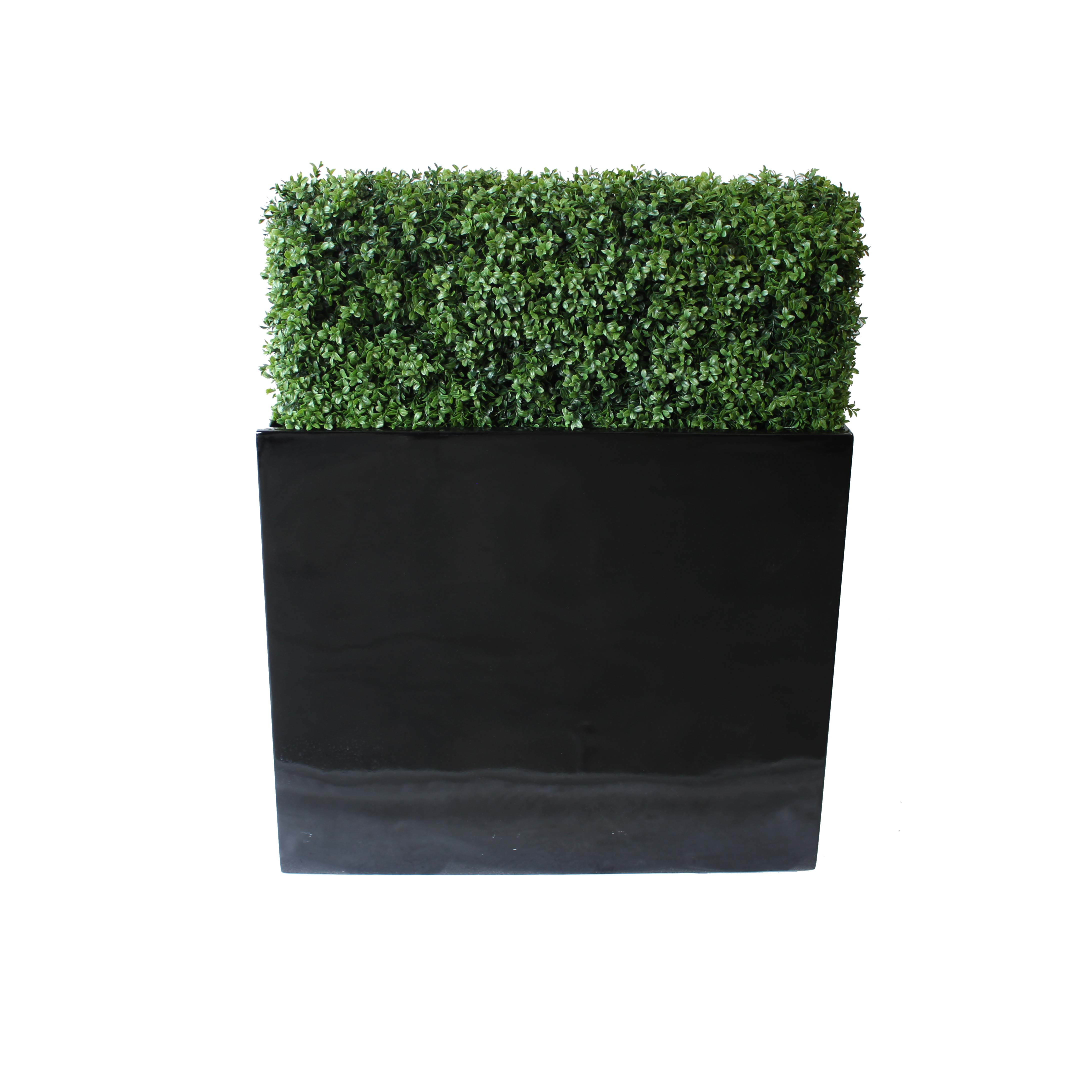 PREMIUM DELUXE BOXWOOD HEDGE 90 WIDE X 95CM TALL WITH FIBREGLASS TROUGH